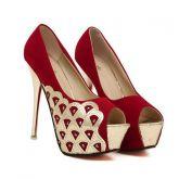 4061be5bd0 Sapato Salto Alto Slaode Com Detalhes em Dourado - Red